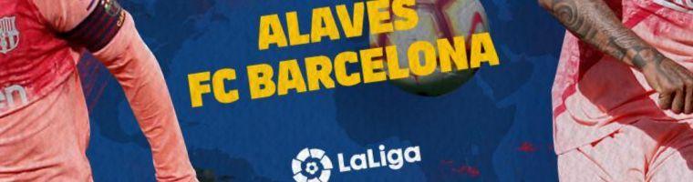 Mejores cuotas Barcelona versus Alavés 1