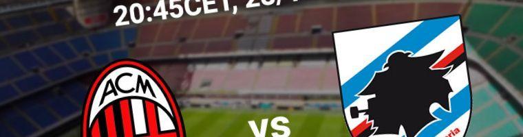 Apuestas AC Milan vs Sampdoria del 06/01/2020 1