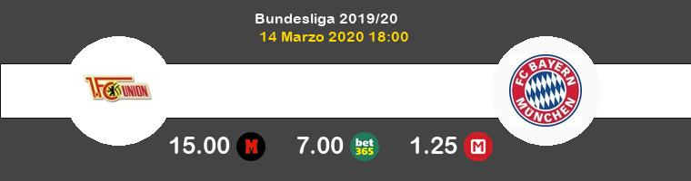 FC Union Berlin Bayern Pronostico 14/03/2020 1