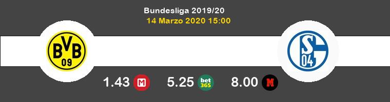 Borussia Dortmund Schalke 04 Pronostico 14/03/2020 1