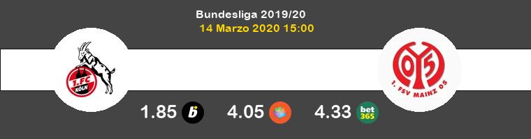 Koln Mainz 05 Pronostico 14/03/2020 1