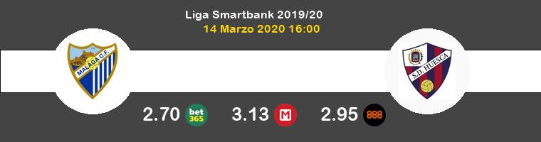 Málaga Huesca Pronostico 14/03/2020 1
