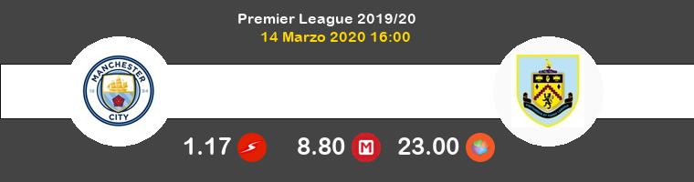 Manchester City Burnley Pronostico 14/03/2020 1