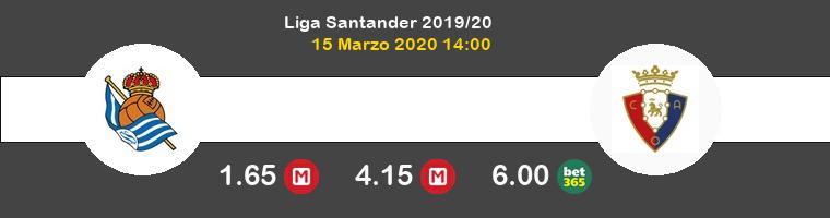 Real Sociedad Osasuna Pronostico 15/03/2020 1