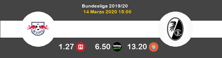 RB Leipzig SC Freiburg Pronostico 14/03/2020 1