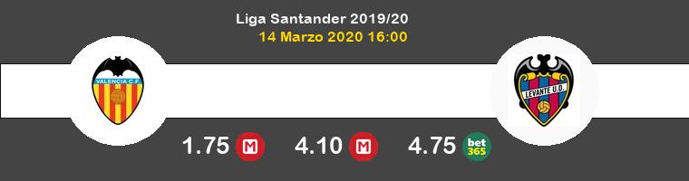 Valencia Levante Pronostico 14/03/2020 1