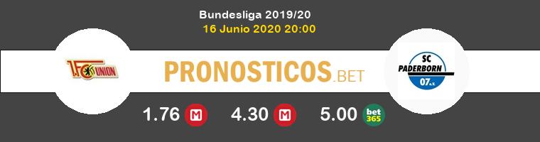 FC Union Berlin Paderborn Pronostico 16/06/2020 1