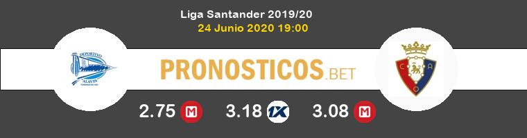 Alavés Osasuna Pronostico 24/06/2020 1