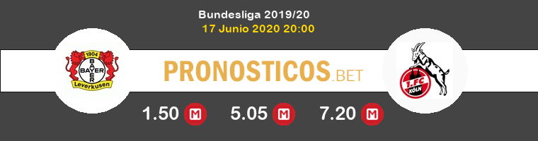 Bayer Leverkusen Koln Pronostico 17/06/2020 1