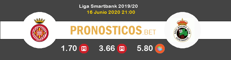 Girona Racing de Santander Pronostico 16/06/2020 1