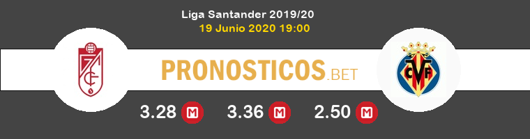 Granada Villarreal Pronostico 19/06/2020 1