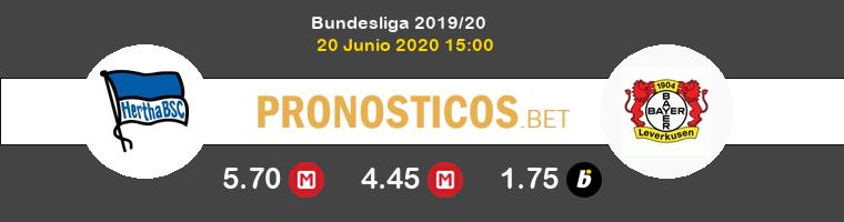 Hertha Berlín Bayer Leverkusen Pronostico 20/06/2020 1
