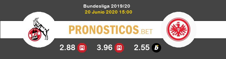 Colonia Eintracht Frankfurt Pronostico 20/06/2020 1