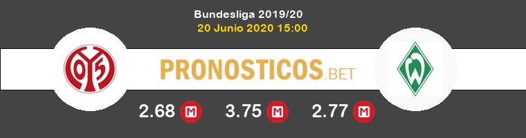 Mainz 05 Werder Bremen Pronostico 20/06/2020 1