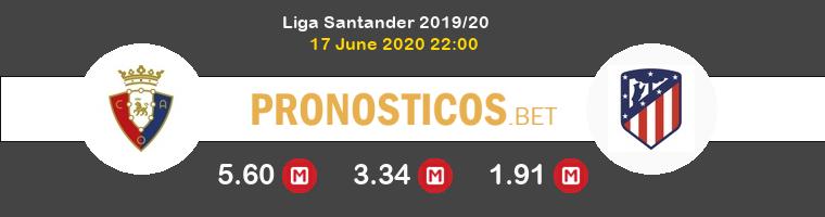 Osasuna Atlético Pronostico 17/06/2020 1