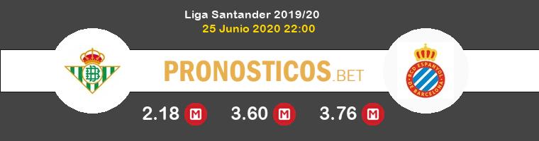Real Betis Espanyol Pronostico 25/06/2020 1