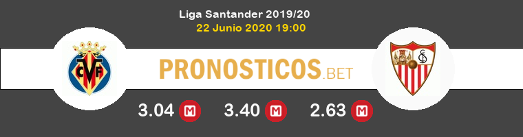 Villarreal Sevilla Pronostico 22/06/2020 1