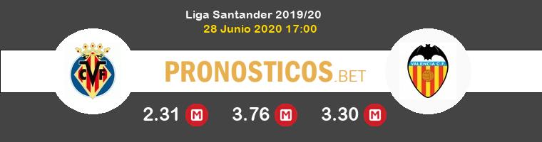 Villarreal Valencia Pronostico 28/06/2020 1