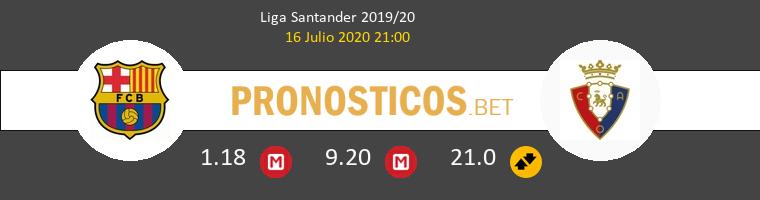 Barcelona Osasuna Pronostico 16/07/2020 1