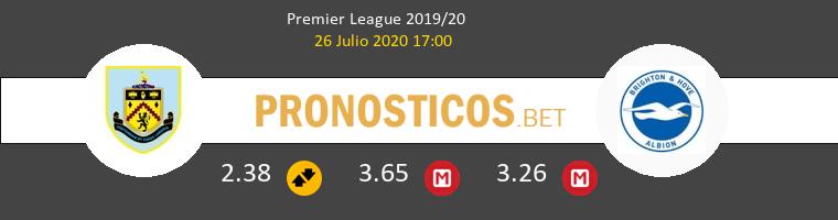 Burnley Brighton & Hove Albion Pronostico 26/07/2020 1