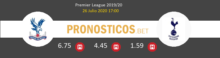 Crystal Palace Tottenham Hotspur Pronostico 26/07/2020 1