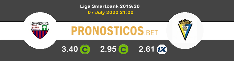 Extremadura UD Cádiz Pronostico 07/07/2020 1