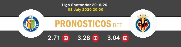 Getafe Villarreal Pronostico 08/07/2020 1