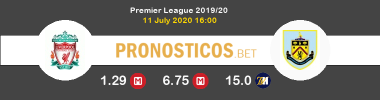 Liverpool Burnley Pronostico 11/07/2020 1