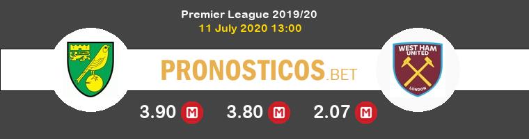 Norwich City West Ham Pronostico 11/07/2020 1