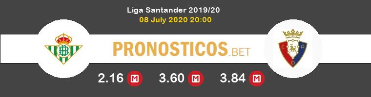 Real Betis Osasuna Pronostico 08/07/2020 1