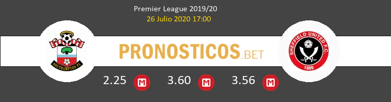 Southampton Sheffield United Pronostico 26/07/2020 1