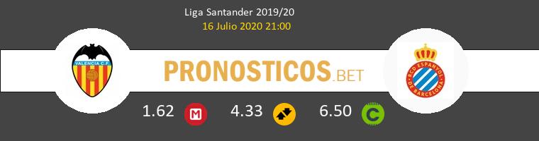 Valencia Espanyol Pronostico 16/07/2020 1