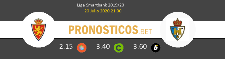Zaragoza Ponferradina Pronostico 20/07/2020 1