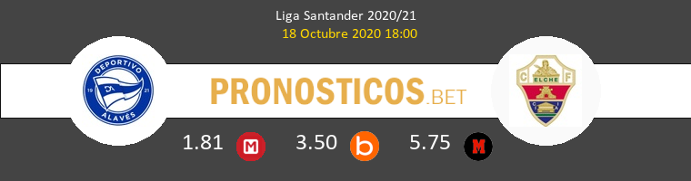 Alavés Elche Pronostico 18/10/2020 1