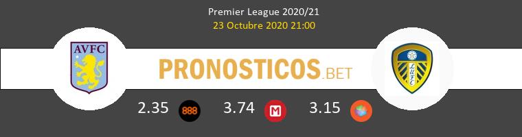 Aston Villa Leeds United Pronostico 23/10/2020 1