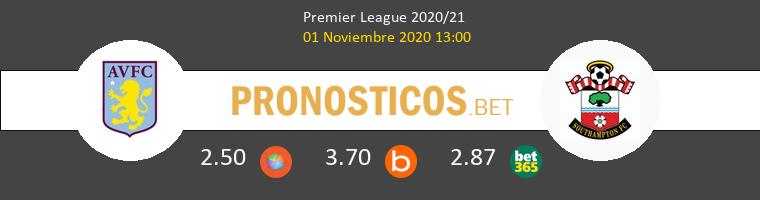 Aston Villa vs Southampton Pronostico (1 Nov 2020) 1