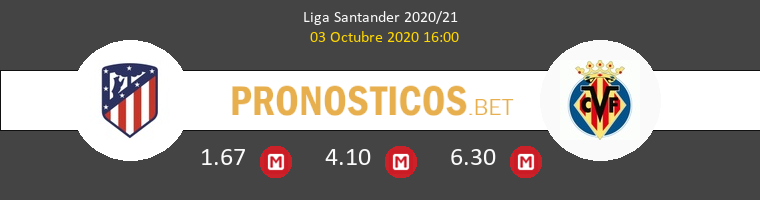 Atlético de Madrid Villarreal Pronostico 03/10/2020 1