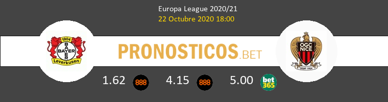Leverkusen Nice Pronostico 22/10/2020 1