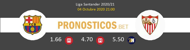 Barcelona Sevilla Pronostico 04/10/2020 1