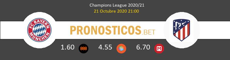 Bayern Atlético de Madrid Pronostico 21/10/2020 1