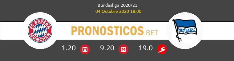 Bayern Munchen Hertha BSC Pronostico 04/10/2020 1