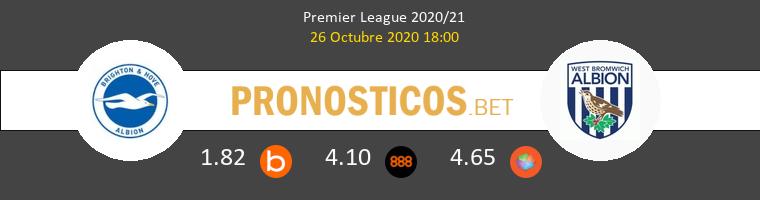 Brighton Hove Albion West Bromwich Albion Pronostico 26/10/2020 1