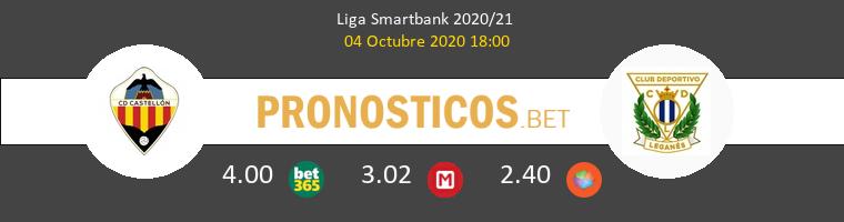 CD Castellón Leganés Pronostico 04/10/2020 1