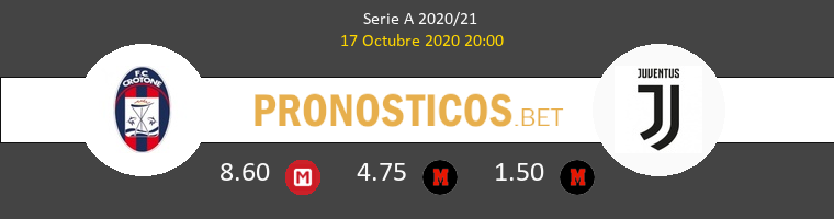 Crotone Juventus Pronostico 17/10/2020 1