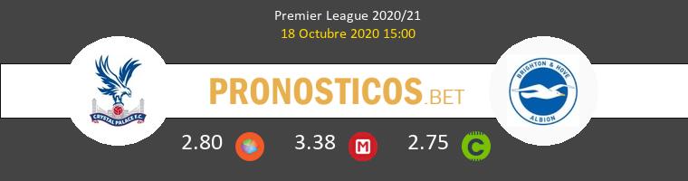 Crystal Palace Brighton Hove Albion Pronostico 18/10/2020 1