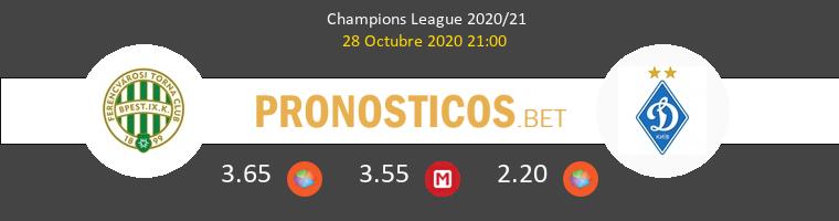 Ferencvárosi vs Dinamo Kiev Pronostico (28 Oct 2020) 1