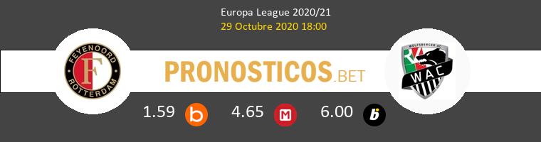 Feyenoord vs Wolfsberger AC Pronostico (29 Oct 2020) 1