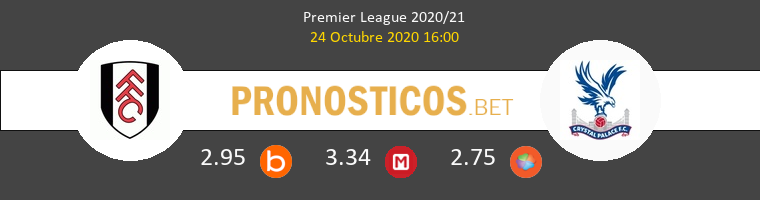 Fulham Crystal Palace Pronostico 24/10/2020 1