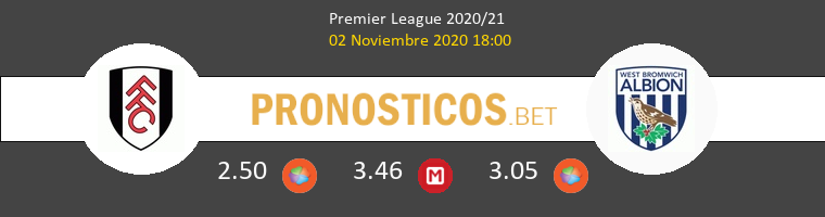 Fulham vs West Bromwich Albion Pronostico (2 Nov 2020) 1