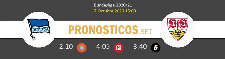 Hertha Berlín Stuttgart Pronostico 17/10/2020 1